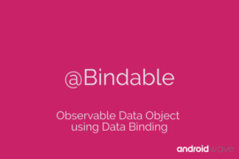 Observable Data Object using Data Binding