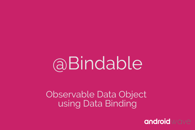 Observable Data Object using Data Binding