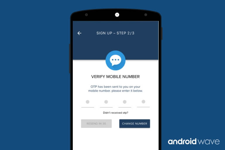 Automatic SMS Verification Android - AndroidWave