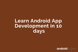 learn android app development for free