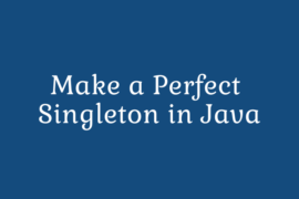 singleton in java
