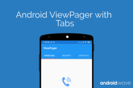 android viewpager with tabs example