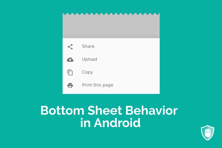 bottom sheet behavior