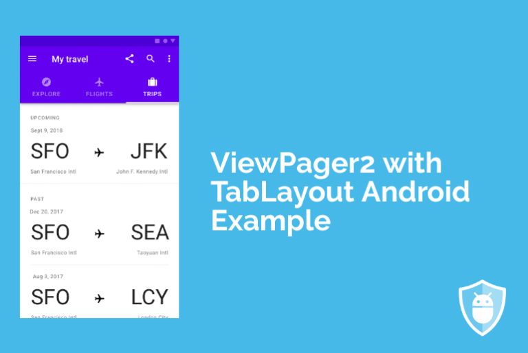 viewpager with tablayout in android