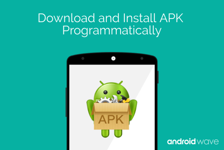 download and install apk programmatically android