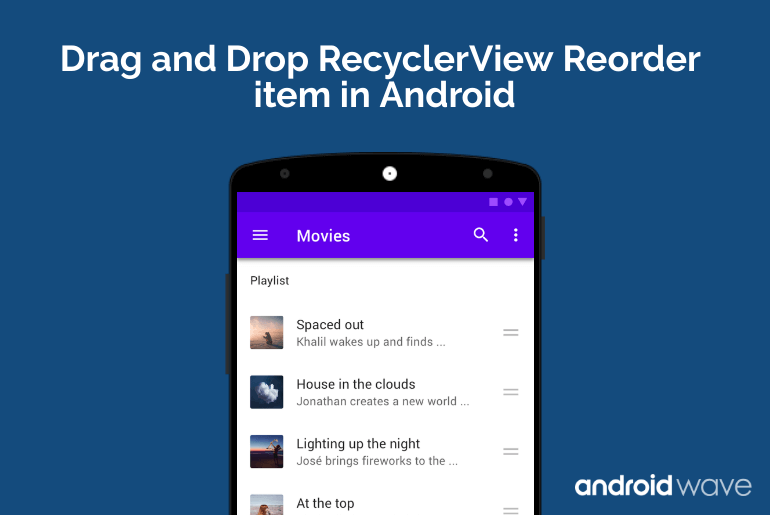 drag and drop recyclerview item android example