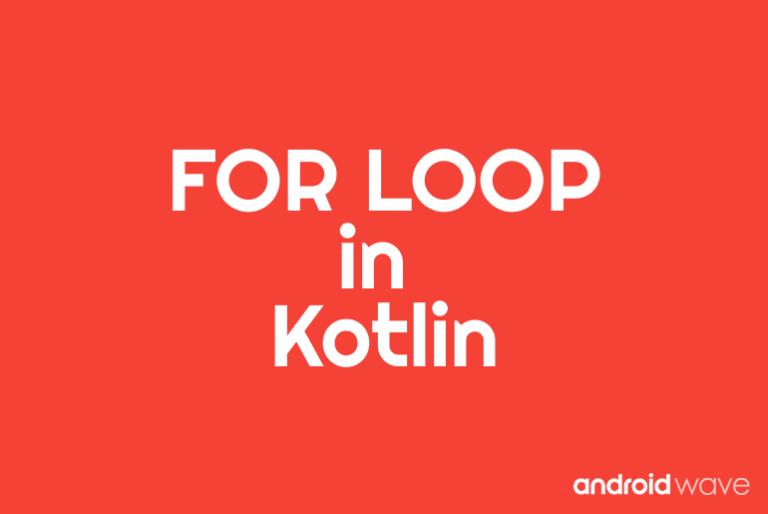 for loop in kotlin