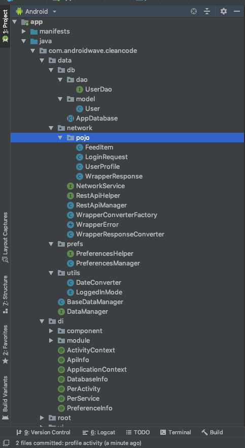 MVP architecture using Dagger 2